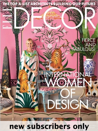 Elle Decor magazine brings you the world of home design and style. Elle Decor showcases the most acclaimed international designers and their innovative ideas in architecture, interiors, home fashions and the decorative arts. Every issue of Elle Decor is packed with all the latest trends, design ideas and products from New York, California, Paris, London and beyond. Plus, Elle Decor also brings you a detailed shopping guide and profiles of top designers. Know what to buy, where to shop and how create the rooms you?ve always wanted with Elle Decor.